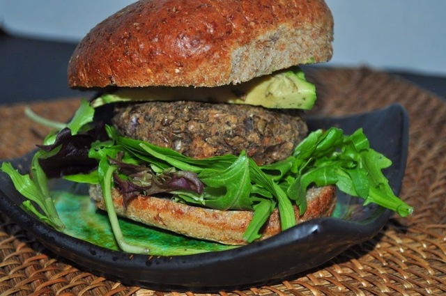 Black Bean and Lentil Burgers (Vegetarian, Low Fat, Whole Grain, Clean Eating)