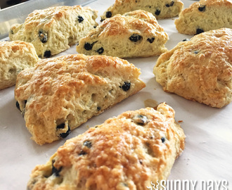 (In the Tradition of) Irish Blueberry Scones