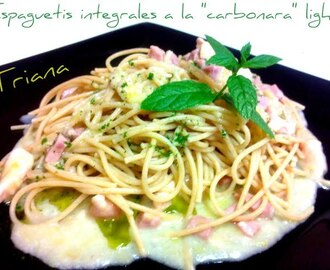 "Espaguetis integrales a la ""carbonara"" light"