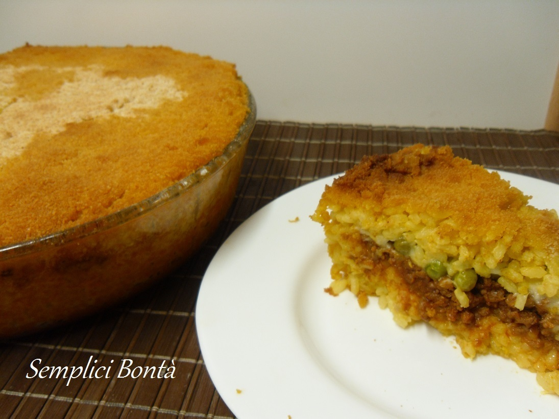 TIMBALLO DI RISO ALL' ARANCINA