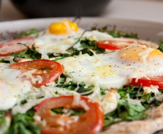 Simply Spring - Spinach Egg Pizza