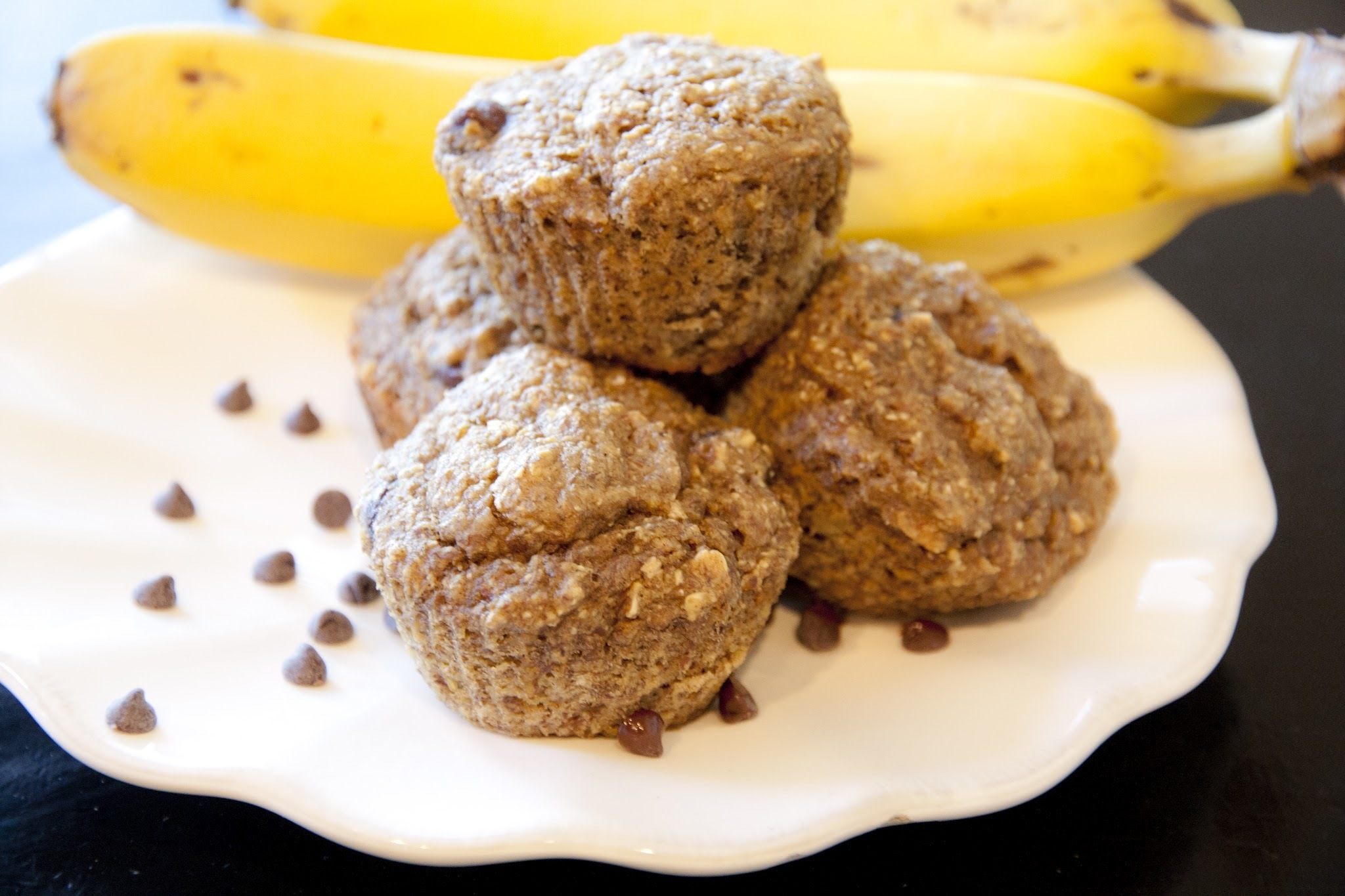 Banana Chocolate Chip Flax Muffins
