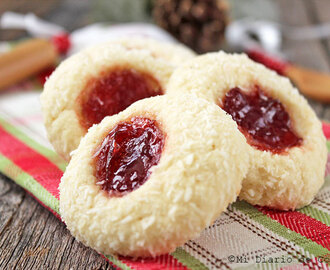 Galletas de coco con mermelada