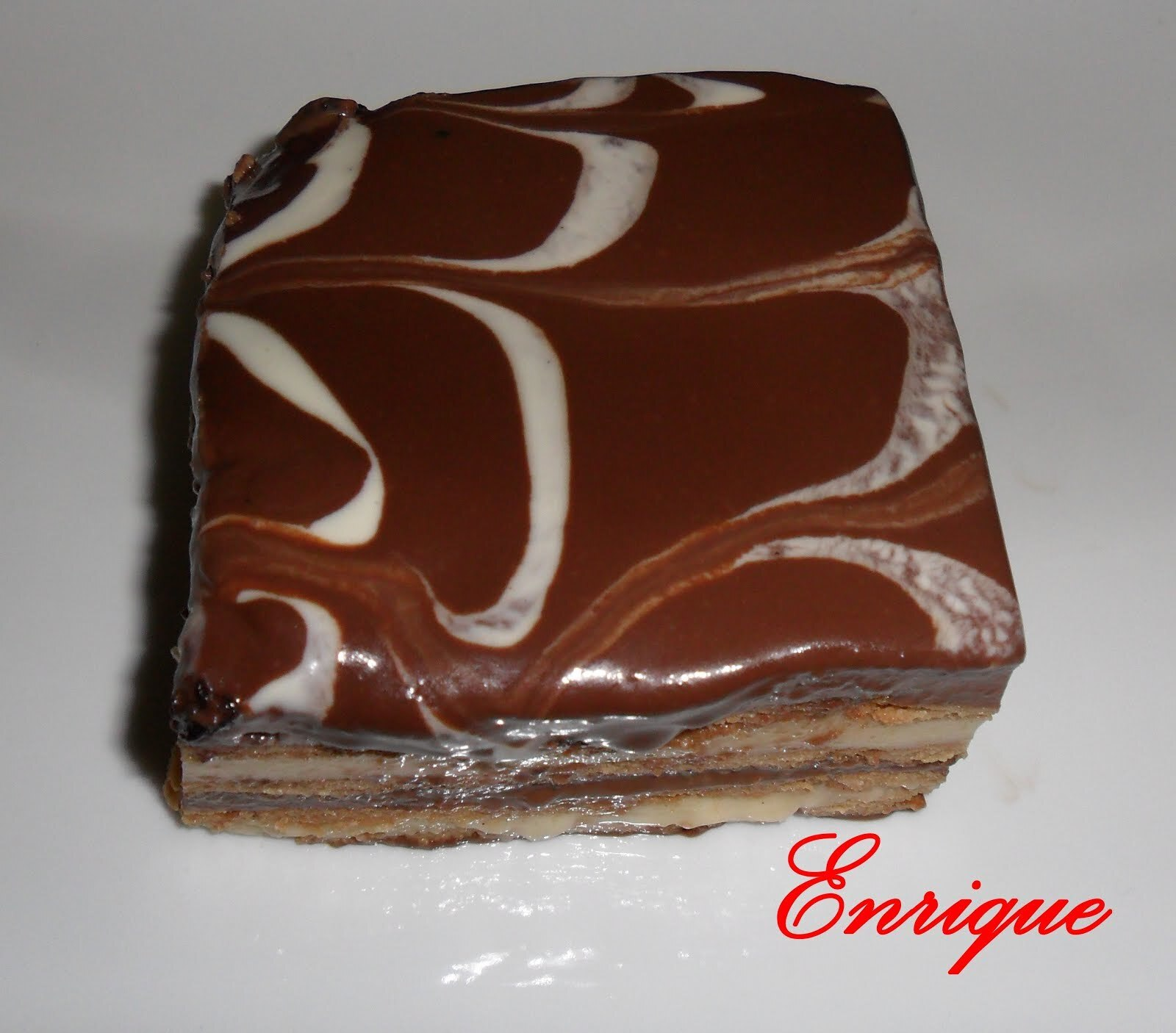 TARTA DE GALLETAS CREMA Y CHOCOLATE