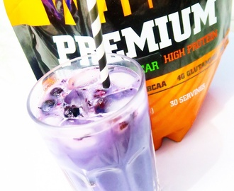 Blueberry ice protein drink