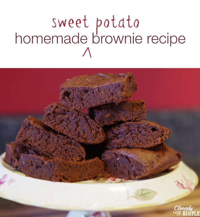 Homemade Brownies Recipe Made With Sweet Potatoes