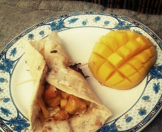 Pain plat mangue & poulet croustillant {Street food}