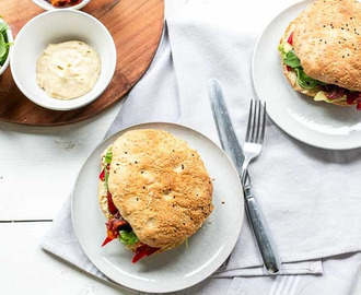 Vegan Turkish bread sandwich