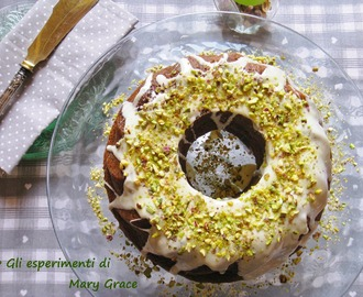 Ciambella ai pistacchi e cioccolato bianco. In the blink of an eye.