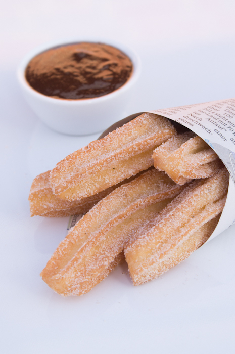 Churros mit Hot Fudge Sauce!
