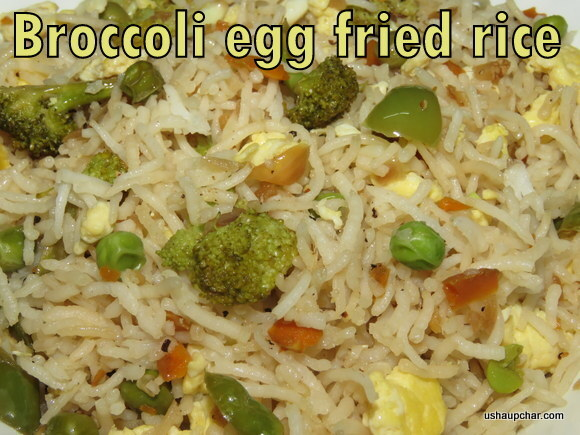 Broccoli Egg Fried Rice