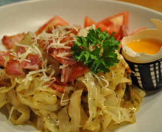 """Pasta"" carbonara för LCHF:are"