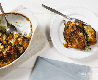 Vegetarian Moussaka with Lentils | Vegetarisches Moussaka mit Linsen