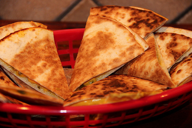 Chili cheese quesadillas