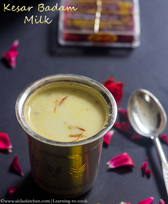 Instant Kesar Badam Milk | Kesar Badam Milk uisng Badam Mix | Badam Recipes | Almond Recipes | Indian Home made Health Drinks