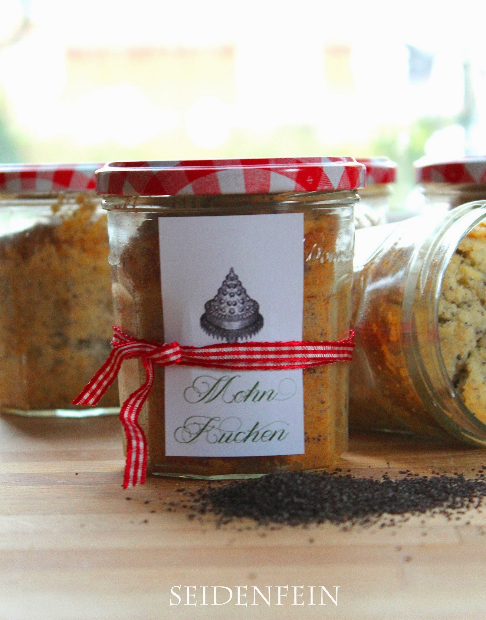 21 ✰ Geschenke aus der Küche : Mohnkuchen im Glas * Presents from the kitchen : Poppy-seed cakes in the glass