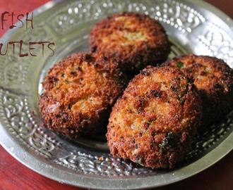 Fish Cutlets / Fish Kabab(Kebab) / Fried Fish Patties / Indian Fish Cakes