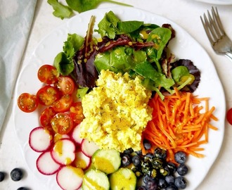 Fresh Garden Egg Salad with Turmeric Dijon Dressing {Paleo, Whole30}