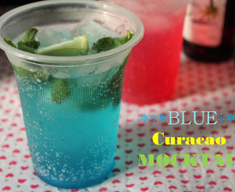 Blue Curacao Mocktail / Blue Curacao Sparkling Mocktail / Non Alcoholic Blue Curacao Drink