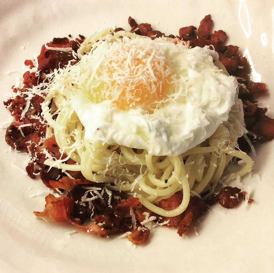 Spaghetti carbonara by