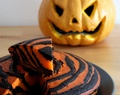 Halloween #17 - Zebra cake chocolat orange