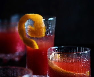 {Here´s to you! And to a marvellous New Year.} Blood Orange Negroni & Five Spice Honey Popcorn