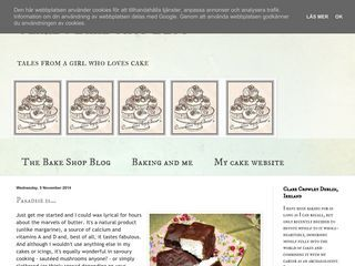 Clare's Bake Shop Blog