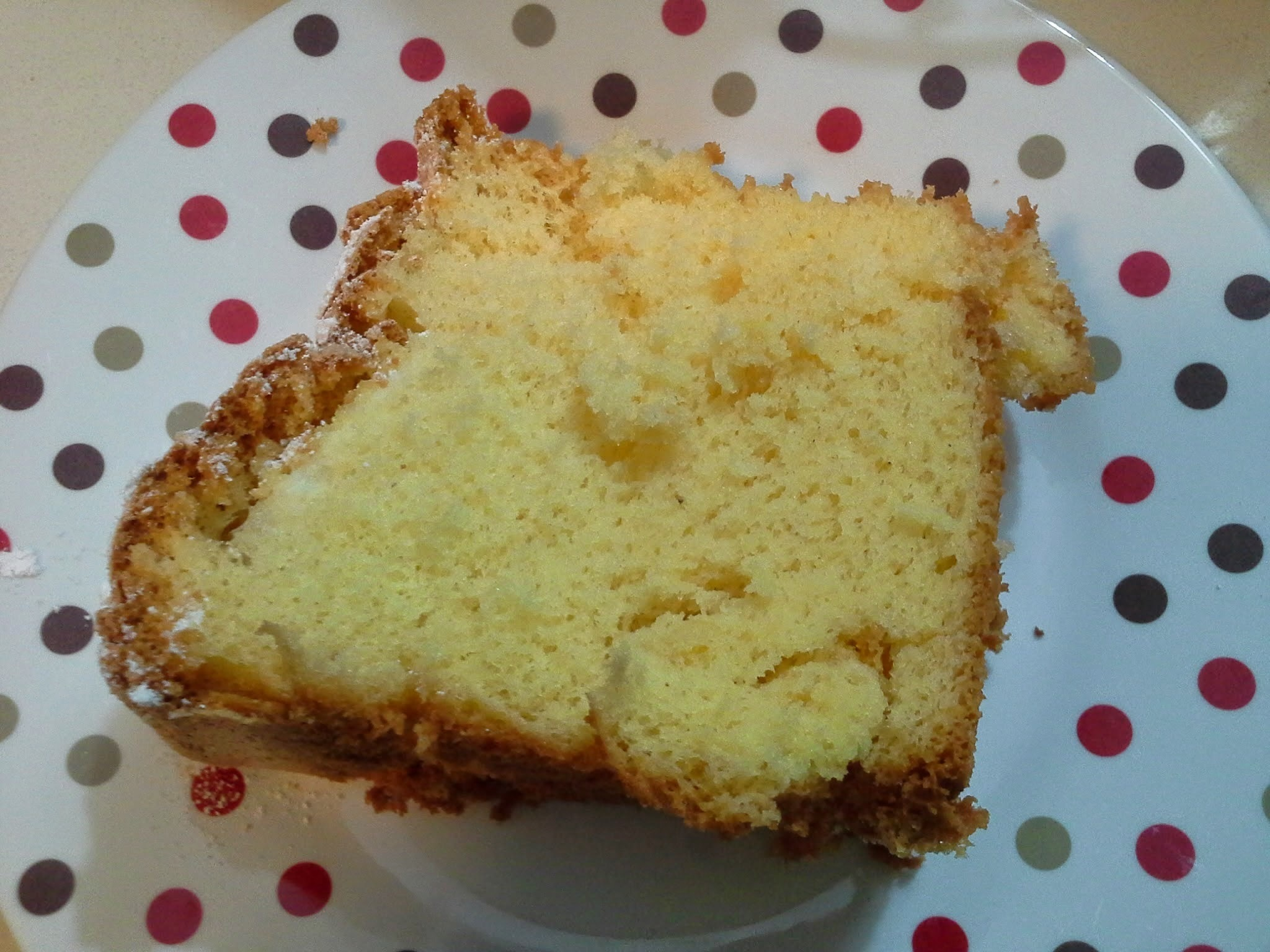 Custard Chiffon Cake - MMCC - It's not perfect but that's ok because that's what baking is all about!