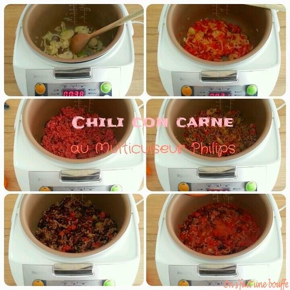 Chili con carne au Multicuiseur Philips