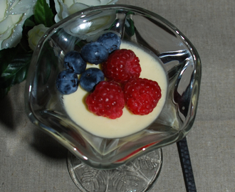 Recept - LCHF Kokospannacotta