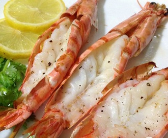 Grilled Prawns served with Garlic Cream Sauce (Air Fryer Recipe)