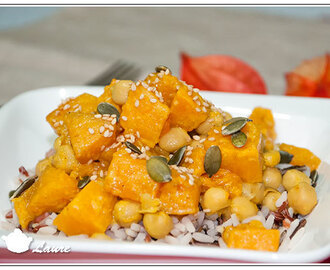 Curry de courge butternut aux pois chiches (vegan)