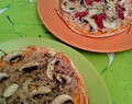 "Pizzas""fit"" con fajitas"