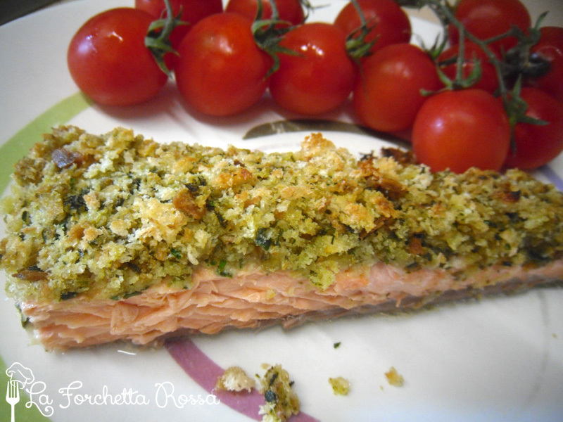 Salmone in crosta aromatica