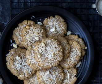 Eggless Coconut Cashew Cookies
