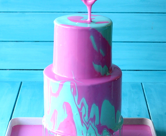 Two Tier Mirror Glaze CakeTwo Tier Mirror Glaze Cake