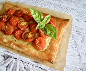 Gluten and Dairy Free Roasted Tomato & Basil Tarts