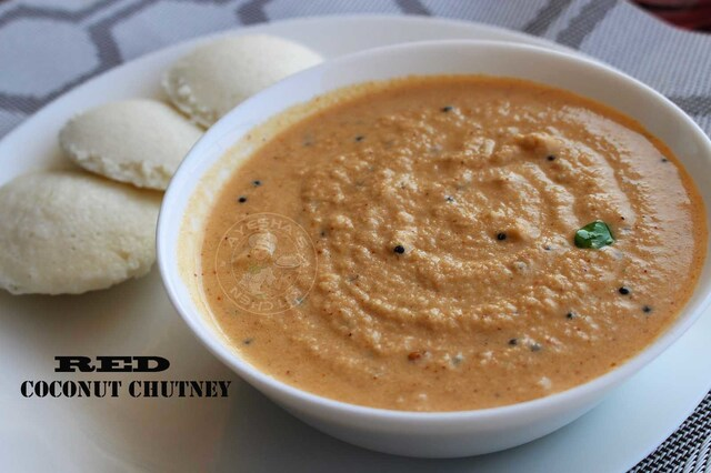 CHUTNEY RECIPES - RED COCONUT CHUTNEY