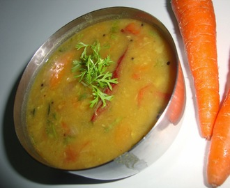 Idli Sambar | Carrot Sambar for Idli