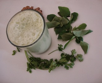 Iron and Calcium rich Buttermilk | Green Buttermilk recipe
