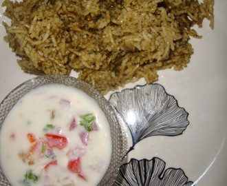 Pudhina Biryani and Onion Raita | Mint Biryani
