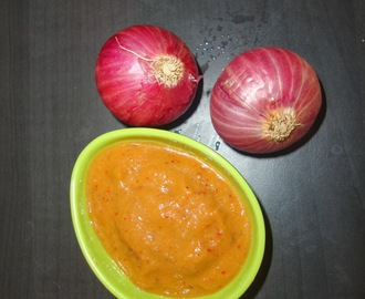 Onion Chutney/ how to make onion chutney
