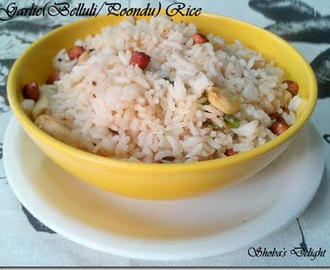 Garlic(Belluli/Poondu) Rice