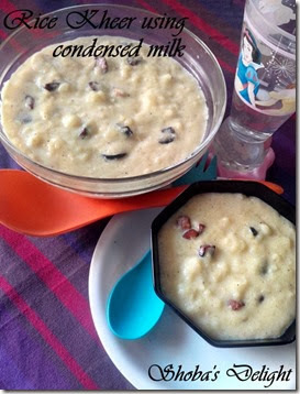 Rice Kheer (Rice Pudding) using condensed milk