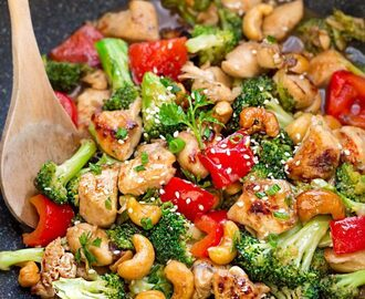 Healthy Cashew Chicken + Video