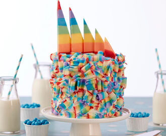 Candy Curl Rainbow Cake