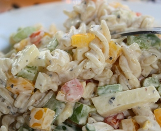 Pasta Salad with Yogurt Dressing