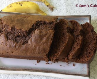 Banana Chocolate Cake - Vegan and low fat