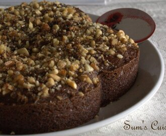 Eggless Chocolate Walnut cake