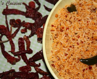 OraLukallu Chitranna - Spicy Red Chili Rice